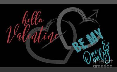 Digital Art - Valentine Hello by Mary Bellew