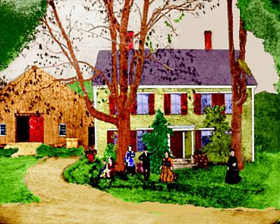 Digital Art - Valentine House 1880s by Cliff Wilson