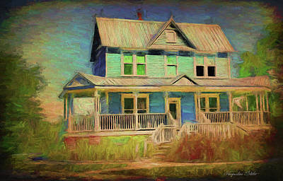 Digital Art - Valentine House by Jacqueline Sleter