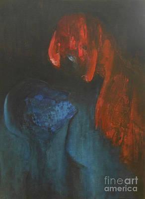 Painting - Valentine by Jane See