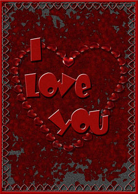 Digital Art - Valentine Love by Michelle Audas