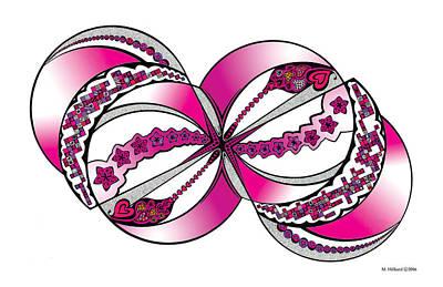 Kaleidoscope Drawing - Valentine by Marilyn Hilliard