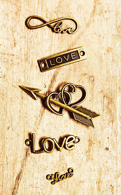 Words Background Photograph - Valentine Pendants by Jorgo Photography - Wall Art Gallery