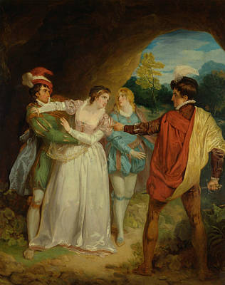 Painting - Valentine Rescuing Silvia From Proteus, From Shakespeare's The Two Gentlemen Of Verona by Francis Wheatley