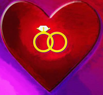 Companion Digital Art - Valentine Rings by Steve Ohlsen