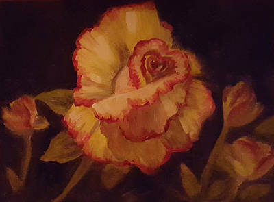 Painting - Valentine Rose 2 by Sharon Casavant