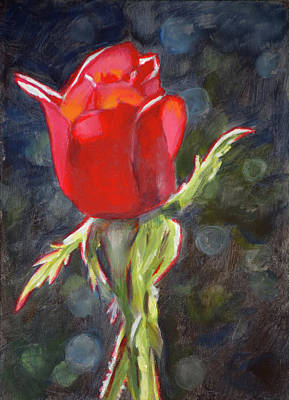 Painting - Valentine Rose by Christopher Reid