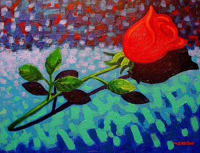 Valentine Rose Original by John  Nolan