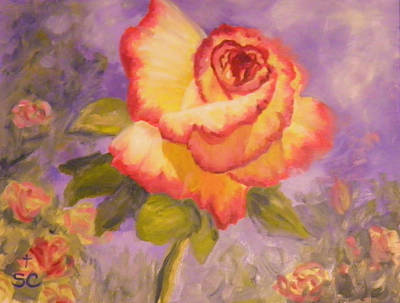 Painting - Valentine Rose by Sharon Casavant