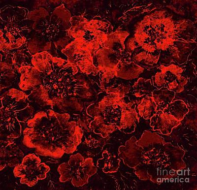 Painting - Valentine Roses by Hazel Holland