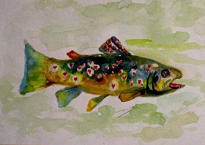Valentine Trout Art Print by Delilah  Smith