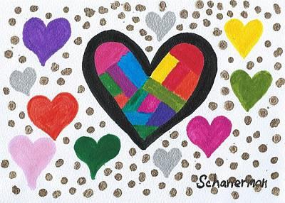 Uplifting Drawing - Valentine's 2017 by Susan Schanerman