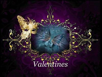 Digital Art - Valentines by Ali Oppy