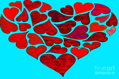 Digital Art - Valentines At Tiffanys by Rafael Salazar