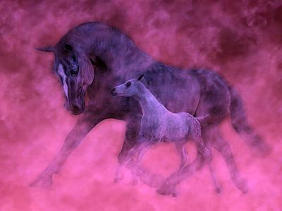 Animals Digital Art - Valentines by Betsy Knapp