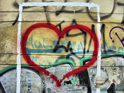 Photograph - Valentine's Day - Heart Graffiti by Daliana Pacuraru