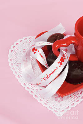 Photograph - Valentines Day Candy Chocolates And Red Cup by Vizual Studio