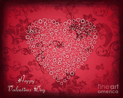 Digital Art - Valentines Day Card 2 by Scott Parker