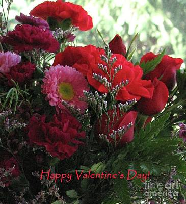 Photograph - Valentine's Day Flowers by Hazel Holland
