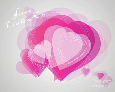 Digital Art - Valentines Day Heart Card by Scott Parker
