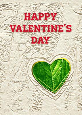 Digital Art - Valentine's Day - Heart Leaf by Gabriele Pomykaj