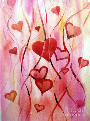 Abstract Painting - Valentines Day by Natalia Eremeyeva Duarte