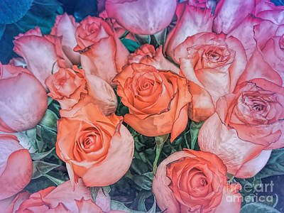 Photograph - Valentines Day Roses  by Janice Drew