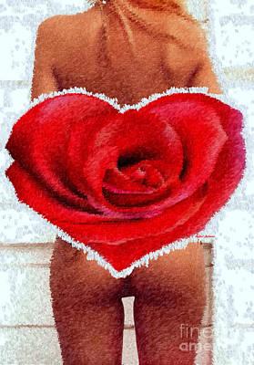 Digital Art - Valentines Pinup by Rafael Salazar