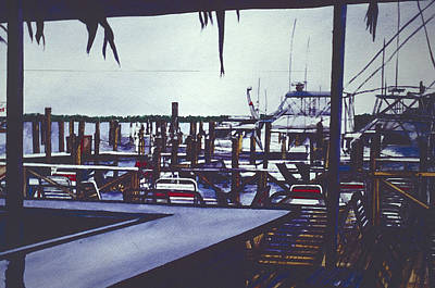 Wall Art - Painting - Valentine's View, Harbor Island by Gaye Elise Beda
