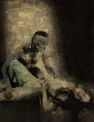 Pussy Painting - Valentino by Mary Bassett