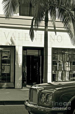 Valentino On Rodeo Drive Art Print by Gwyn Newcombe