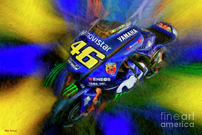 Photograph - Valentino Rossi Side View Yamaha by Blake Richards