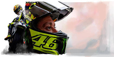 Collectible Art Painting - Valentino Rossi  The King Returns  by Iconic Images Art Gallery David Pucciarelli