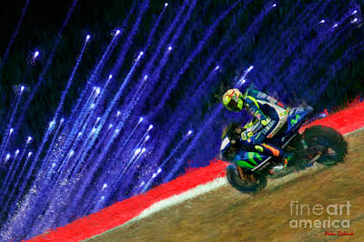 Photograph - Valentino Rossi Victory Punch by Blake Richards