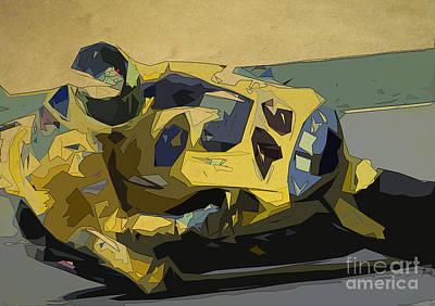 Motorbike Painting - Valentino Rossi Yamaha M1 2006 by Pablo Franchi