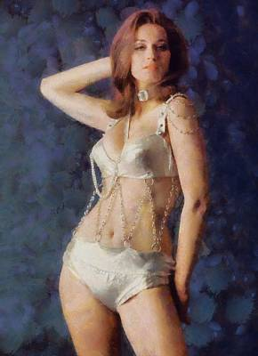 Valerie Leon, Carry On Actress Print by Sarah Kirk