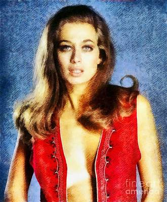 Valerie Leon, Vintage Actress Art Print