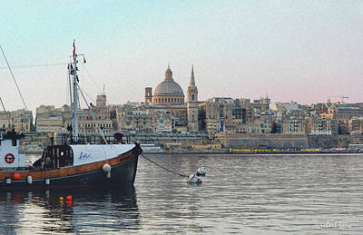 Maltese Photograph - Valetta by Robert Lacy