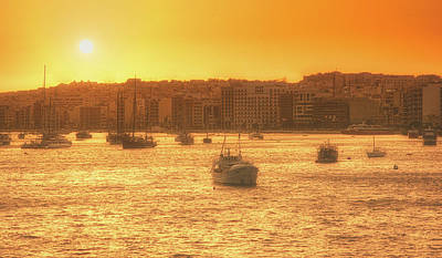 Photograph - Valetta Sunset by Andrew Matwijec