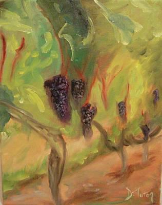 Winery Painting - Valhalla Vineyard by Donna Tuten