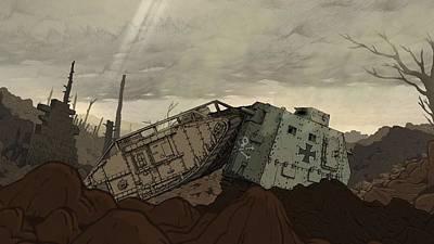 Digital Art - Valiant Hearts The Great War by Maye Loeser