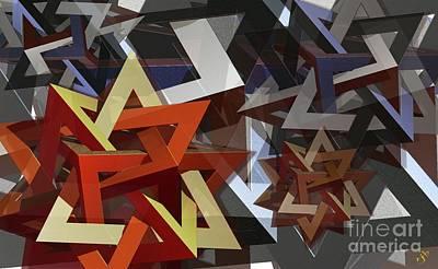 Digital Art - Valknut by Ron Bissett