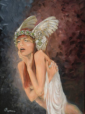 Norse Goddess Painting - Valkyrie by GM Luttrell