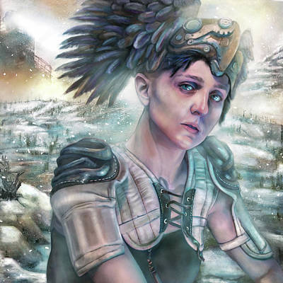 Valkyries Painting - Valkyrie In Winter by Mandem