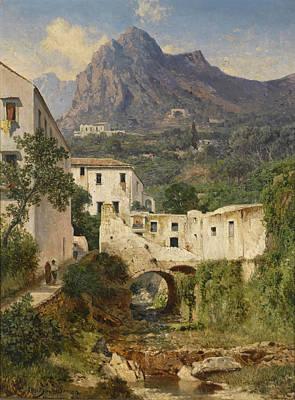 Painting - Valle Dei Mulini. Amalfi by Albert Zimmermann
