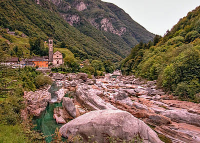 Photograph - Valle Verzasca In Ticino by Alan Toepfer