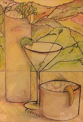 Painting - Vallejo Evening Cocktails by Chuck Gebhardt