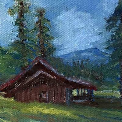 Valles Cabin Art Print by Jo Anne Neely Gomez