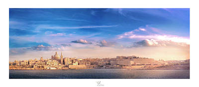 Stiched Photograph - Valletta by Adel Ferrito