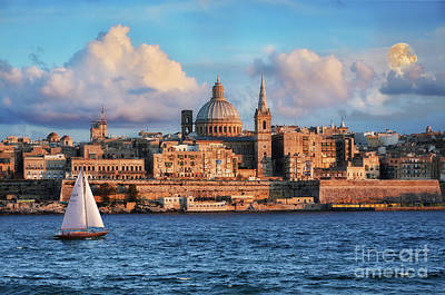 Photograph - Valletta At Sunset by Stephan Grixti